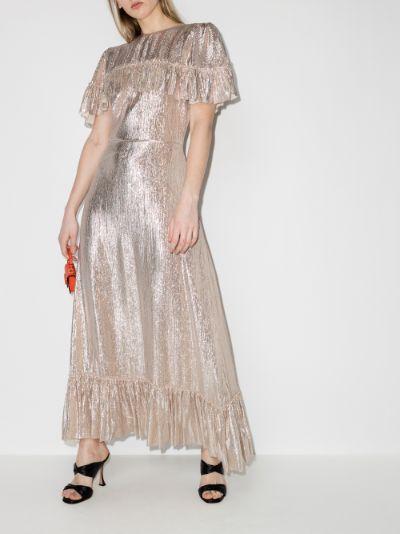 The Bombette Ruffled Maxi Dress