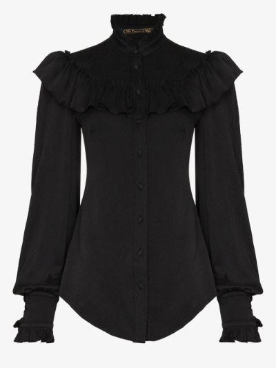 The Frill Seeker silk blouse