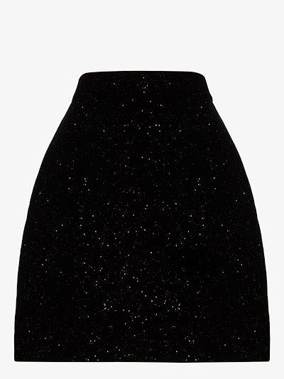 the little anarchy velvet mini skirt