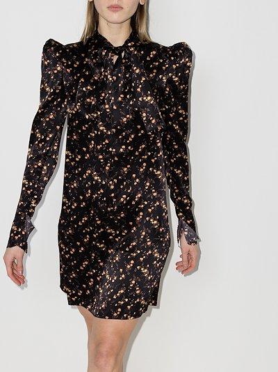 Unconditional floral silk dress