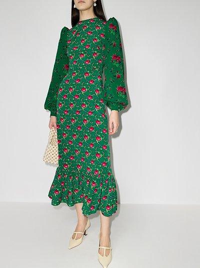 Vilanelle floral print midi dress