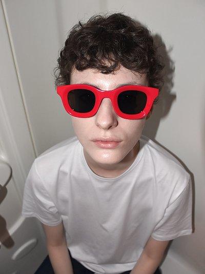 X Rhude red Rhodeo 657 square sunglasses