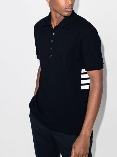 4-bar cotton polo shirt