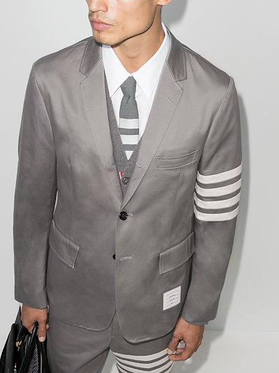 4-bar single-breasted blazer