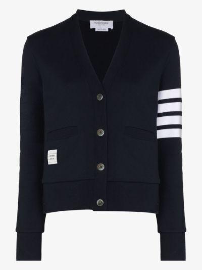 4-Bar stripe cardigan