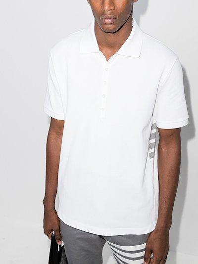 4-bar stripe cotton polo shirt