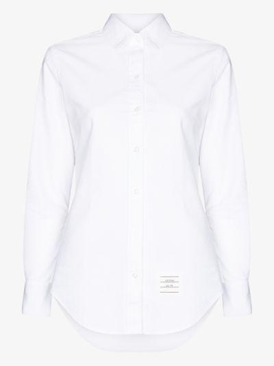 4-bar stripe  cotton shirt