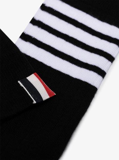 4-Bar stripe cotton socks