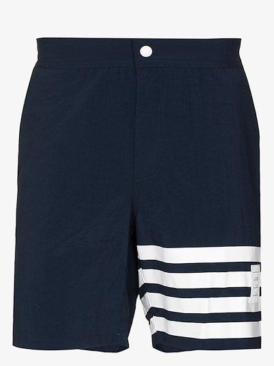 4-bar stripe swim shorts