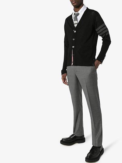 4-Bar V-neck cardigan