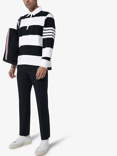 4-stripe sleeve polo shirt