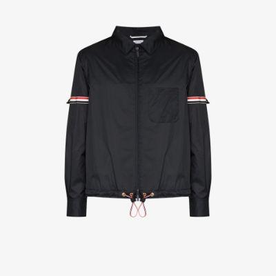 armband zip-up jacket