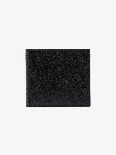 black pebbled leather wallet