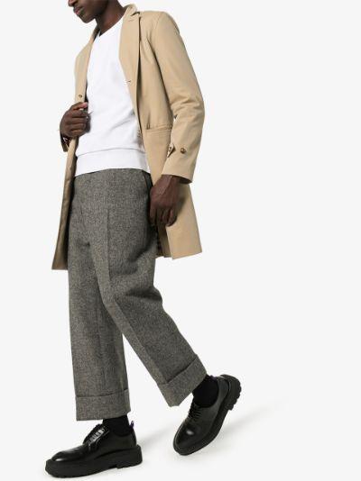 Center-Back Stripe Jersey Pullover