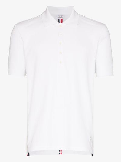 Center-Back Stripe Piqué Polo