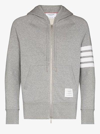 Classic 4-bar stripe zip hoodie
