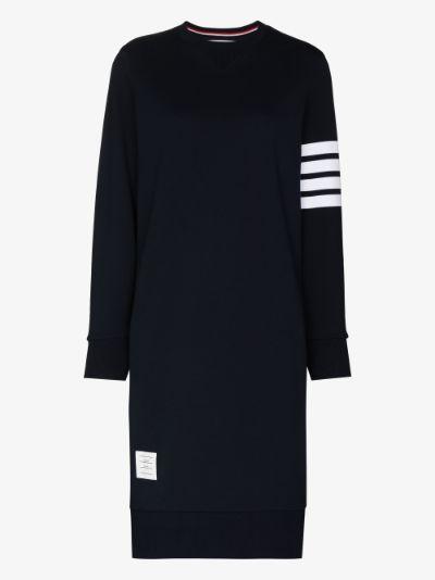 classic loop back 4-bar sweater dress