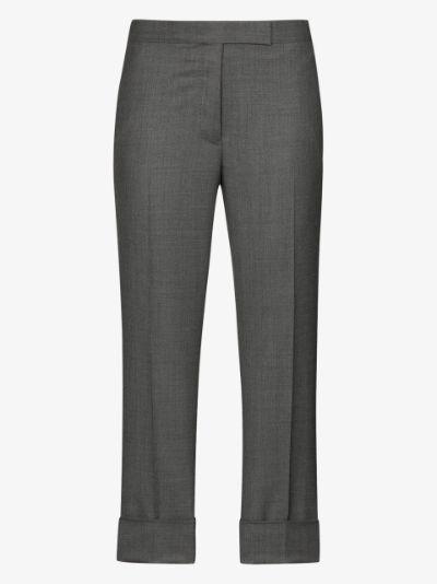 cropped slim leg trousers