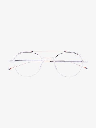 silver tone round glasses