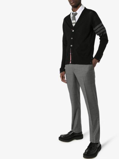 fine merino wool V-neck cardigan