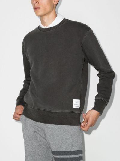 garment-dyed loopback cotton sweatshirt