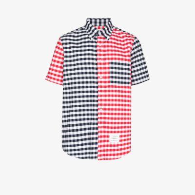 gingham check Oxford shirt