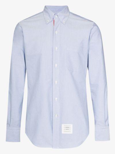 grosgrain placket Oxford shirt