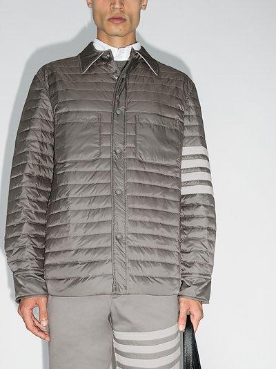 quilt down Fill 4 Bar shirt jacket