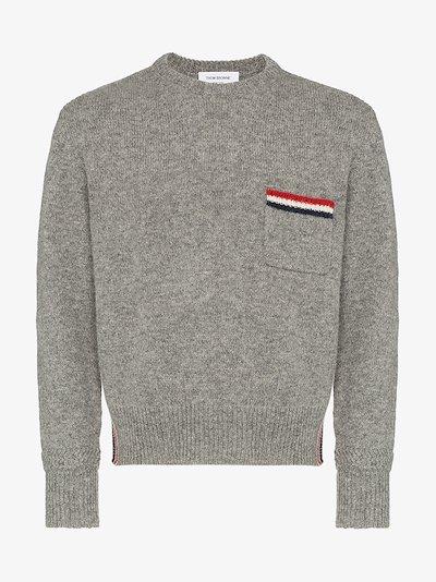 Relaxed Rwb Intarsia Stripe Pullover