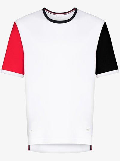 Ringer contrast sleeve cotton T-shirt
