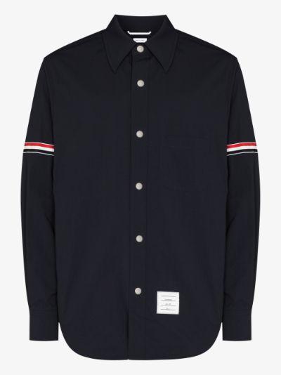 Solid Nylon Armband Shirt Jacket