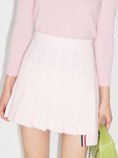 striped pleated mini skirt