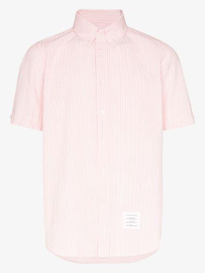 striped seersucker cotton shirt