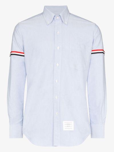 tricolour armband cotton shirt