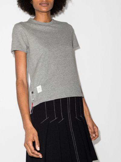 tricolour stripe cotton piqué T-shirt