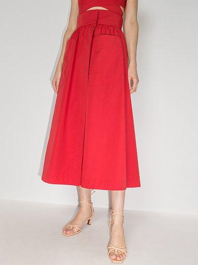 Celeste wrap midi skirt