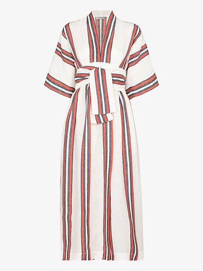 Charita linen wrap dress
