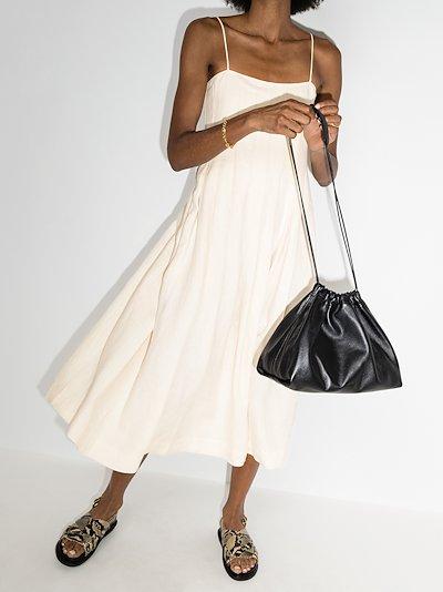 Lucia pleated midi dress