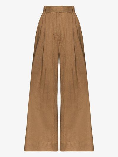 Molly wide leg linen trousers