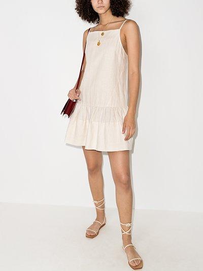 Skye drop waist linen mini dress