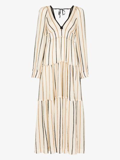 Theadora striped maxi dress