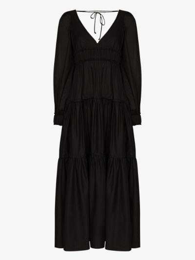Theodora tie detail midi dress