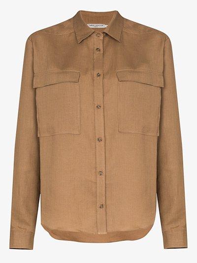 Willow chest pocket linen shirt