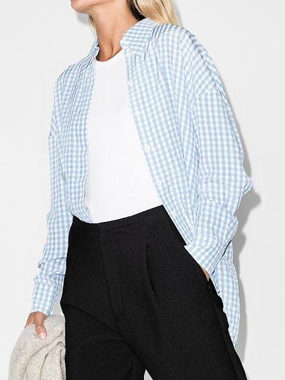 button-up gingham shirt
