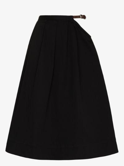 cutout waist midi skirt