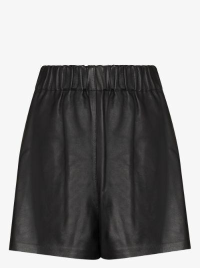 high waist leather shorts