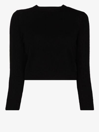 shrunken cashmere sweater