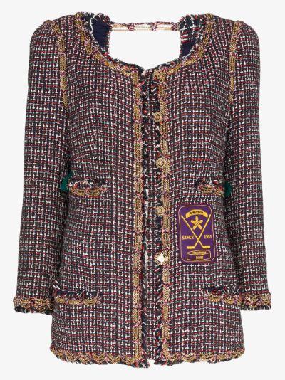 reworked Chanel chain trim tweed jacket