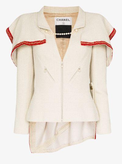reworked Chanel tweed jacket