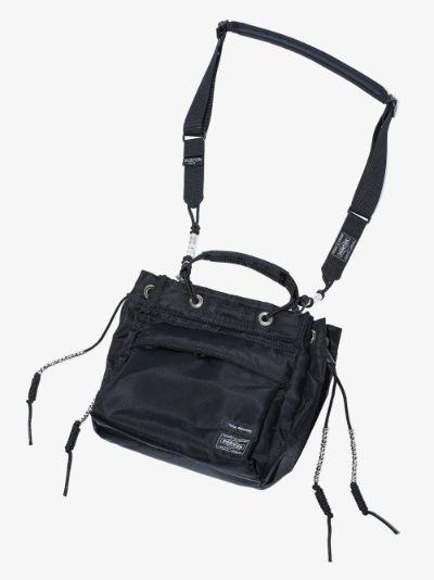 X Porter-Yoshida & Co. Black String Shoulder Bag
